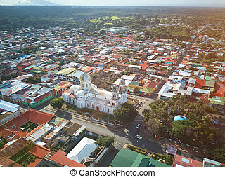 Landscape on small central america city