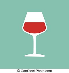 glass of red wine- vector illustration