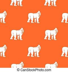 Mandrill monkey pattern seamless - Mandrill monkey pattern...
