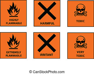 hazard labels vector collection