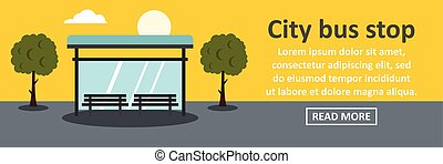 City bus stop banner horizontal concept