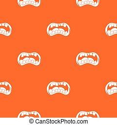 Zombie mouth pattern seamless