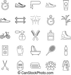 Soundness icons set, outline style - Soundness icons set....