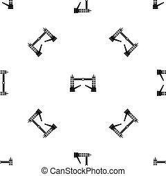 Tower bridge pattern seamless black - Tower bridge pattern...