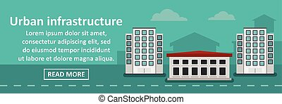 Urban infrastructure banner horizontal concept