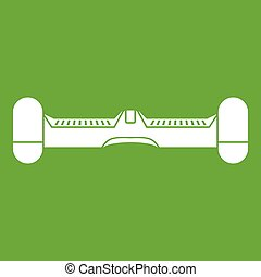 Dual wheel self balancing electric skateboard icon green -...