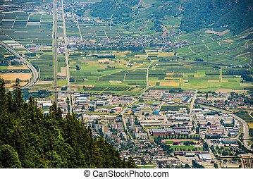 Martigny in Canton Valais - Martigny. Capital of the French...
