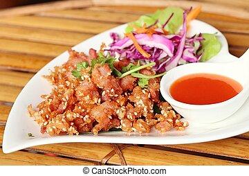 tasty fried chicken bones