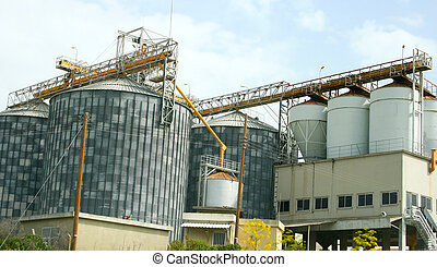 Grain elevator in Cyprus