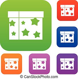Box magician set collection - Box magician set icon in...