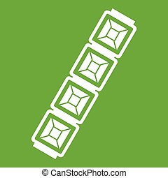 Jewelry chain icon green - Jewelry chain icon white isolated...