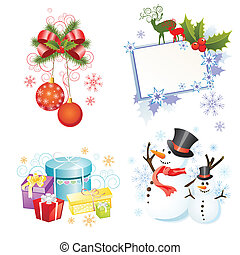 Christmas equipment - vector illustration of different...