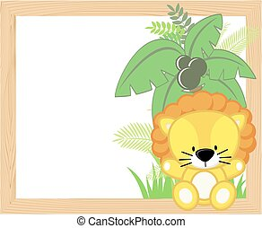 baby lion frame