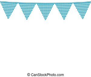 Garland with flags for the Oktoberfest holiday vector