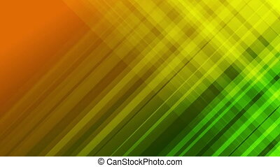 Green and orange diagonal stripes abstract video animation -...