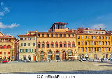 FLORENCE, ITALY- MAY 14, 2017: Pitti Square (Piazza pitti)...