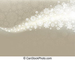 Elegant christmas card with snowflakes. EPS 8 - Elegant...