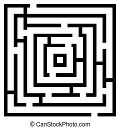 Vector illustration of maze/ labyrinth.