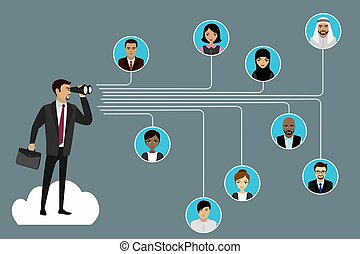 Global communication between people. Business concept