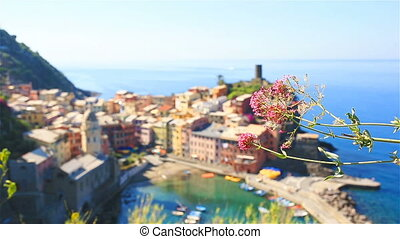 Amazing view of Vernazza from above. One of five famous...