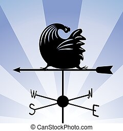 weathervane - running rooster 5.