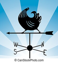 weathervane - running rooster 4