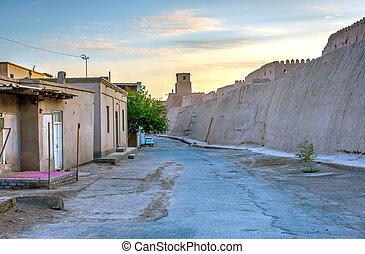 Khiva old city wall - Old city wall in Khiva, Uzbekistan