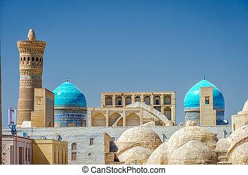 Bukhara downtown. Uzbekistan - View over Bukhara downtown...