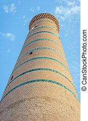 Islam Khoja minaret, Khiva - Detail of Islam Khoja minaret,...
