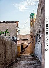 Streets of Khiva, Uzbekistan - View to the old street in...