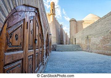 Khiva old town, Uzbekistan - Street in Khiva old town,...