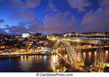 City of Porto in Portugal by Night - City of Porto by night...