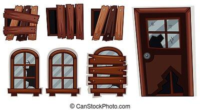 Broken windows and door