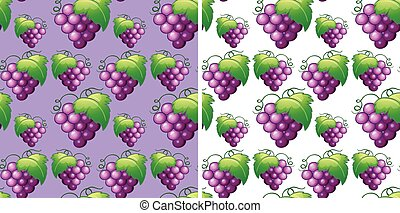 Seamless background with fresh grapes