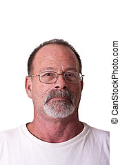 Old Guy with Grey Beard and Glasses - An older guy with a...