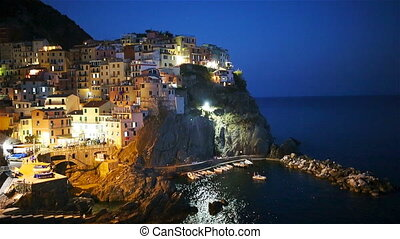 Stunning view of the beautiful and cozy village of Manarola...