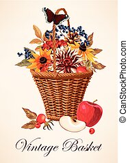 Vector illustration of a basket