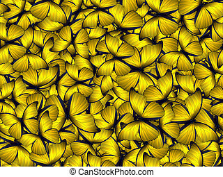 Seamless pattern with lot of different butterflys. Realistic...