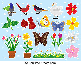 Spring Clip Art - Vector illustration spring and nature clip...