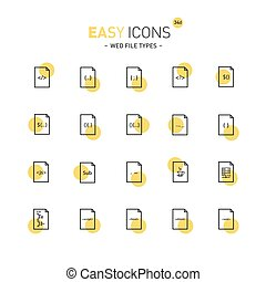 Easy icons 34d File types