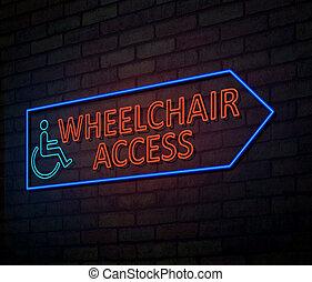Wheelchair access concept.