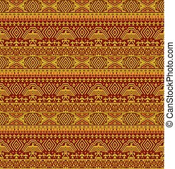 Tribal ethno seamless background with geometric pattern
