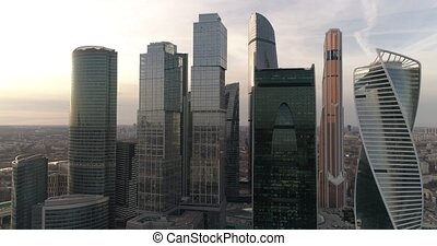 Business Center Moscow City Aerial