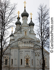 kronstadt cathedral - architecture stone cathedral from...