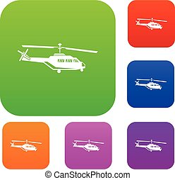 Military helicopter set collection - Military helicopter set...