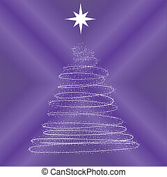 New Year tree consisting of stars