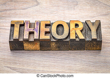 theory word abstract in woodtype - theory word abstract in...