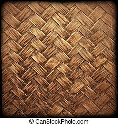 bamboo background - Close up old brown bamboo texture...