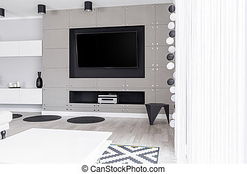 Luxurious entertainment zone in apartment - Luxurious...