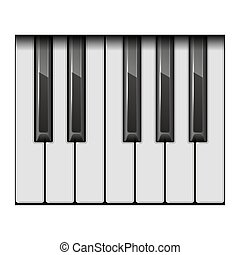 Piano One Octave Keys. Vector - Piano One Octave Keys on...